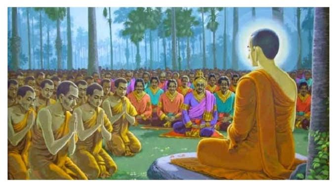buddha and people