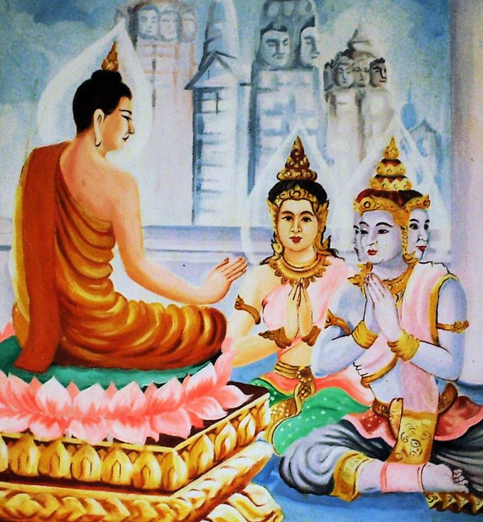 Buddha with Sakra & Brahma